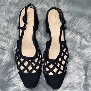 Zara Caged Lattice Block Heel Size 38/7.5